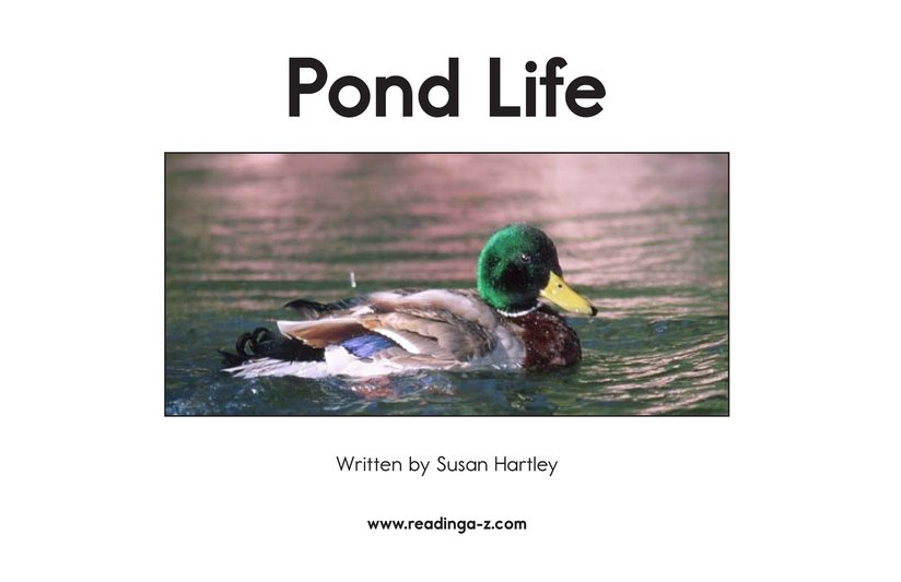 Book Preview For Pond Life Page 2