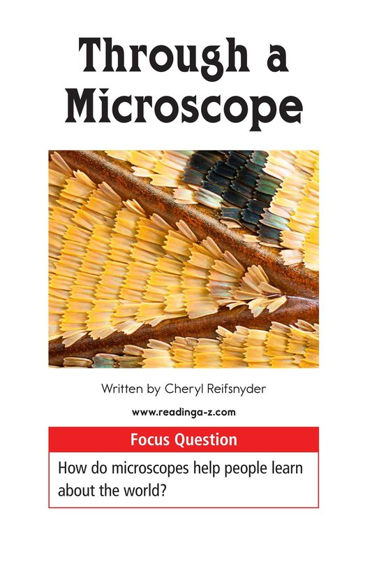 Book Preview For Through a Microscope Page 1