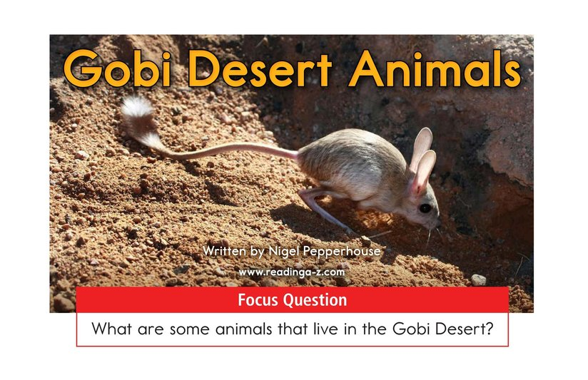 Book Preview For Gobi Desert Animals Page 1