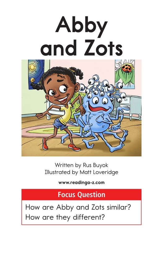 Book Preview For Abby and Zots Page 1