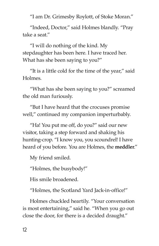 Book Preview For The Adventure of the Speckled Band (Part 2) Page 12