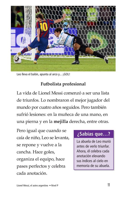 Book Preview For Lionel Messi, El astro argentino Page 11
