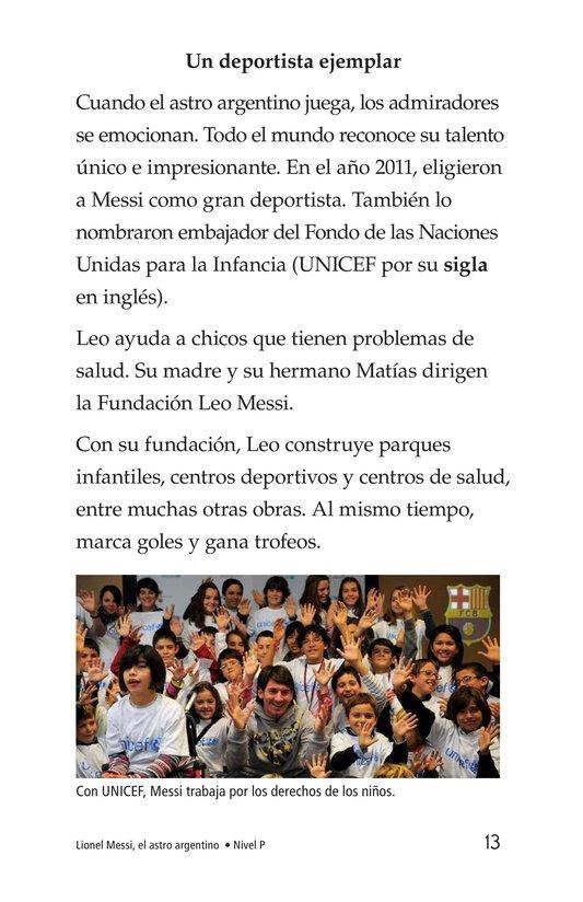 Book Preview For Lionel Messi, El astro argentino Page 13