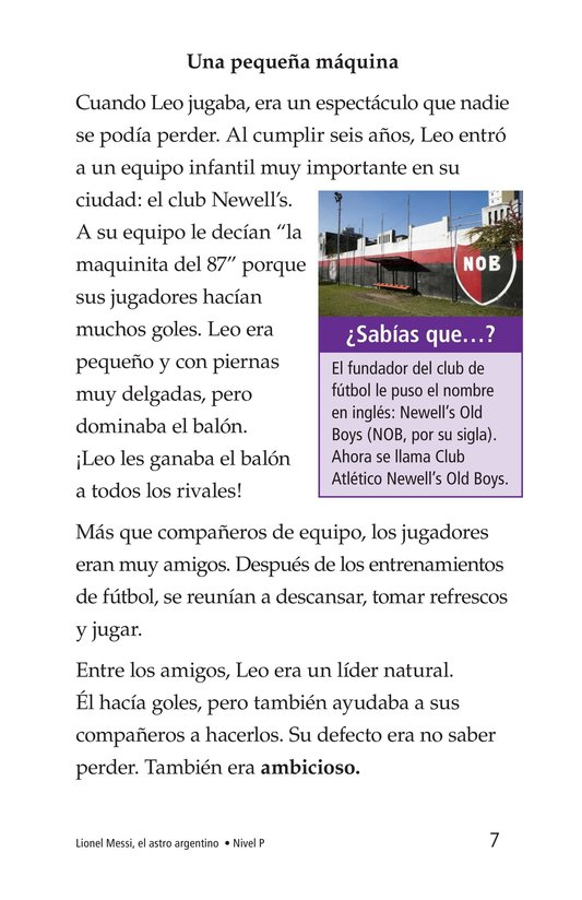 Book Preview For Lionel Messi, El astro argentino Page 7