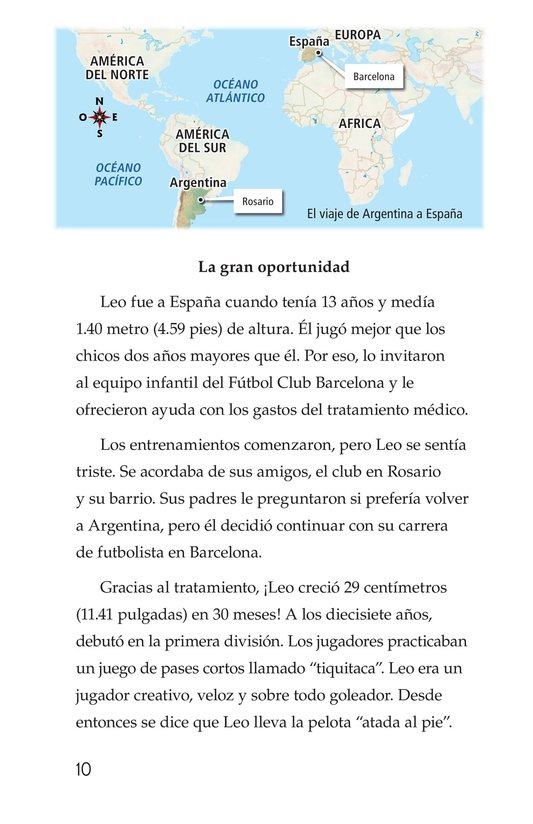 Book Preview For Lionel Messi, El astro argentino Page 10