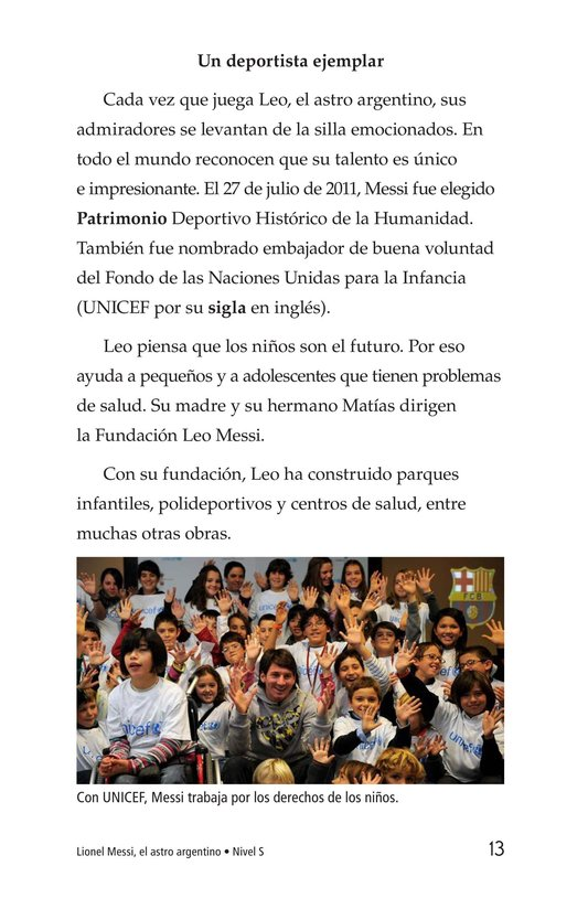 Book Preview For Lionel Messi, El astro argentino Page 13