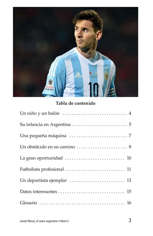 Book Preview For Lionel Messi, El astro argentino Page 3