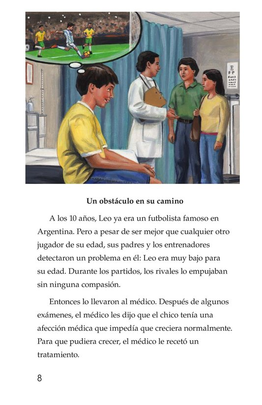 Book Preview For Lionel Messi, El astro argentino Page 8