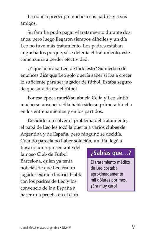 Book Preview For Lionel Messi, El astro argentino Page 9