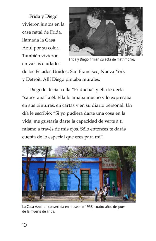 Book Preview For Frida Kahlo, una pintora de mil colores Page 10