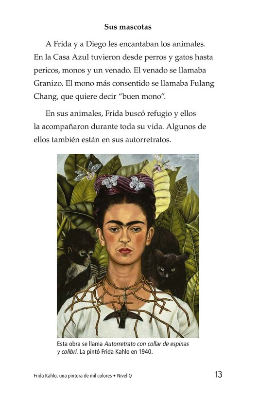 Book Preview For Frida Kahlo, una pintora de mil colores Page 13