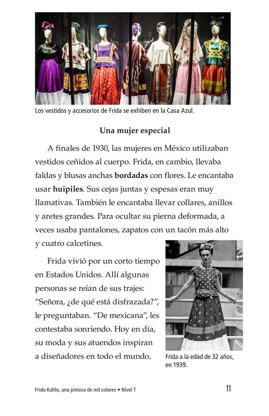 Book Preview For Frida Kahlo, una pintora de mil colores Page 11