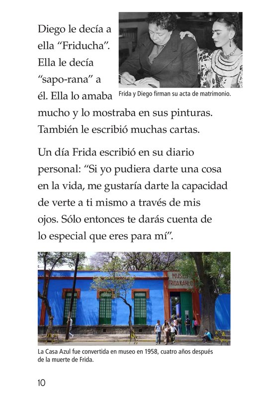 Book Preview For Frida Kahlo, una pintora de mil colores Page 10