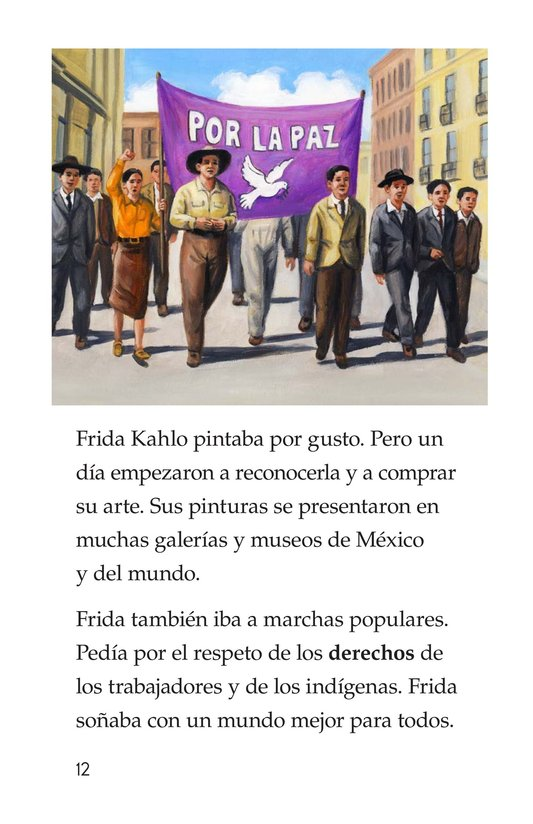 Book Preview For Frida Kahlo, una pintora de mil colores Page 12