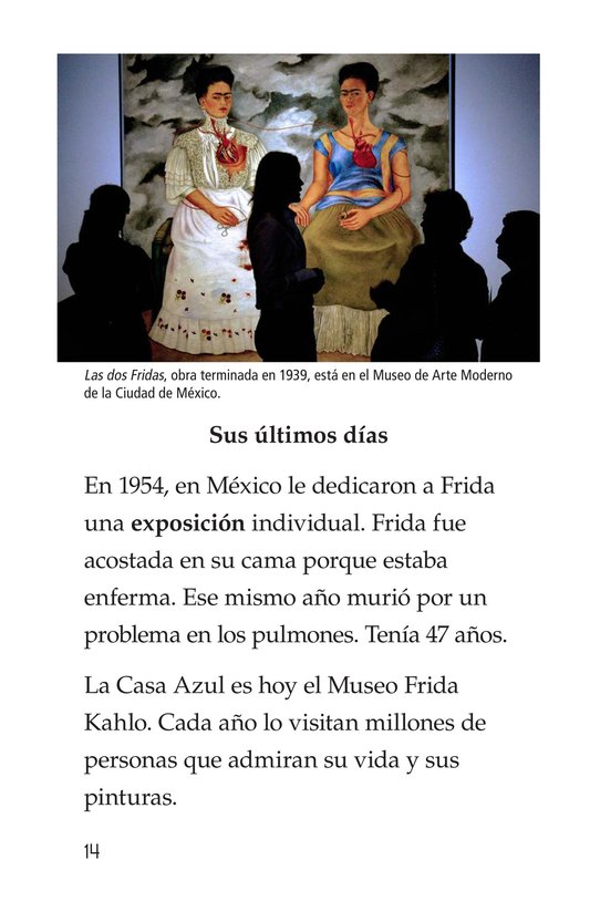 Book Preview For Frida Kahlo, una pintora de mil colores Page 14