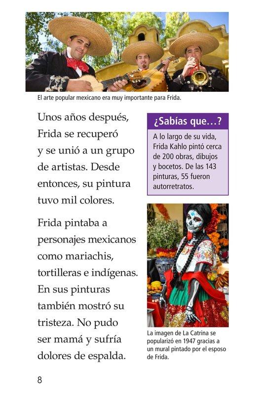 Book Preview For Frida Kahlo, una pintora de mil colores Page 8