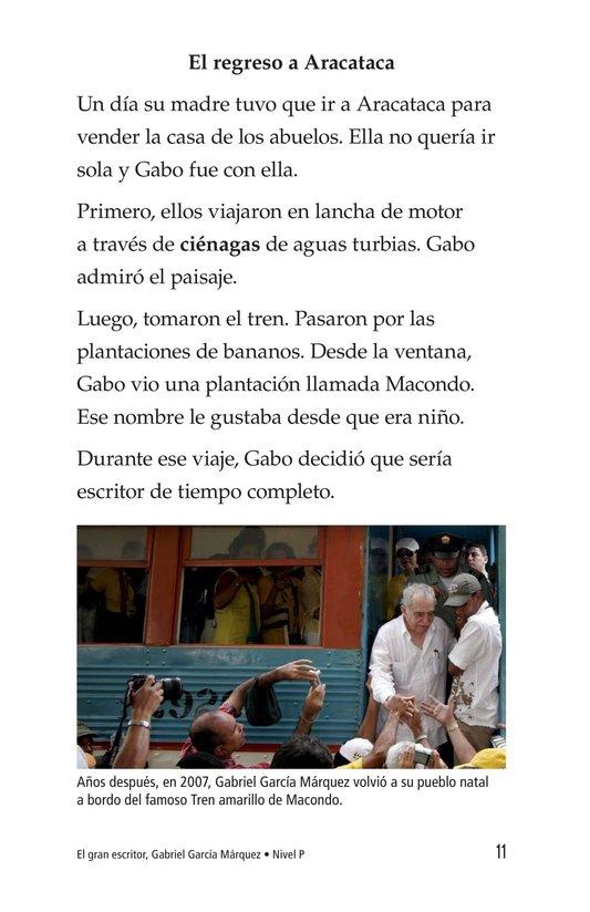 Book Preview For El gran escritor, Gabriel García Márquez Page 11