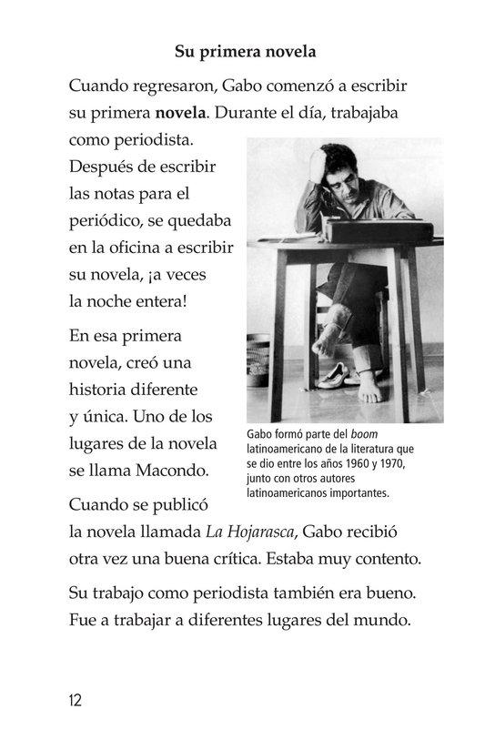 Book Preview For El gran escritor, Gabriel García Márquez Page 12
