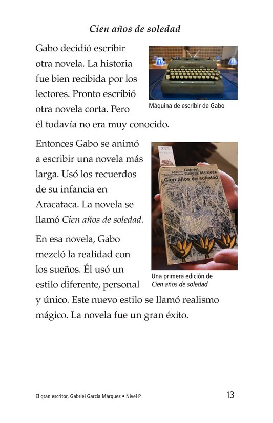 Book Preview For El gran escritor, Gabriel García Márquez Page 13