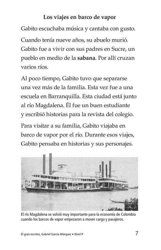 Book Preview For El gran escritor, Gabriel García Márquez Page 7