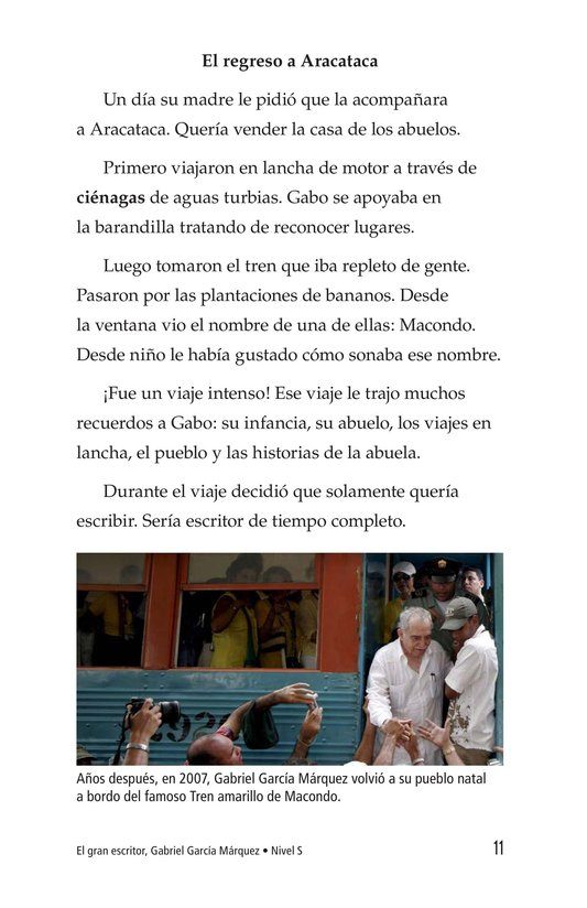 Book Preview For El gran escritor, Gabriel García Márquez Page 11