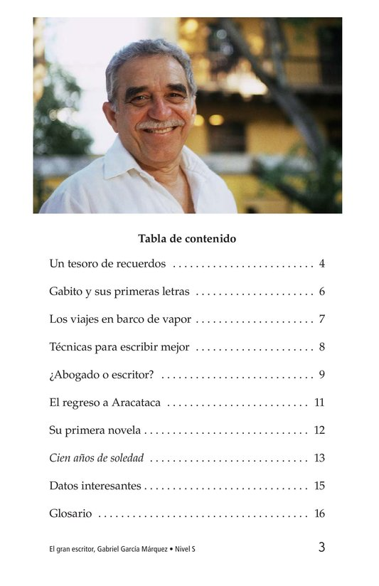 Book Preview For El gran escritor, Gabriel García Márquez Page 3