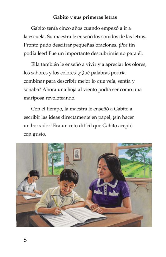 Book Preview For El gran escritor, Gabriel García Márquez Page 6