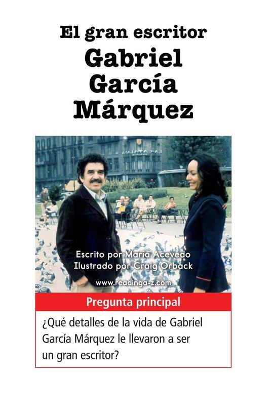 Book Preview For El gran escritor, Gabriel García Márquez Page 1
