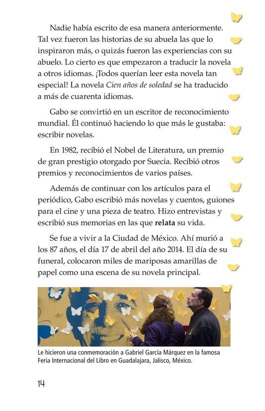 Book Preview For El gran escritor, Gabriel García Márquez Page 14
