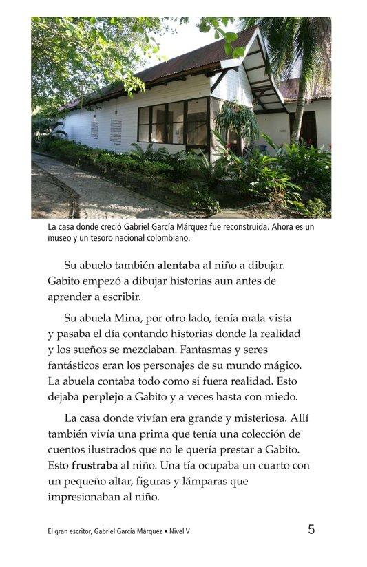 Book Preview For El gran escritor, Gabriel García Márquez Page 5