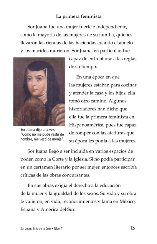 Book Preview For Sor Juana Inés de la Cruz Page 13