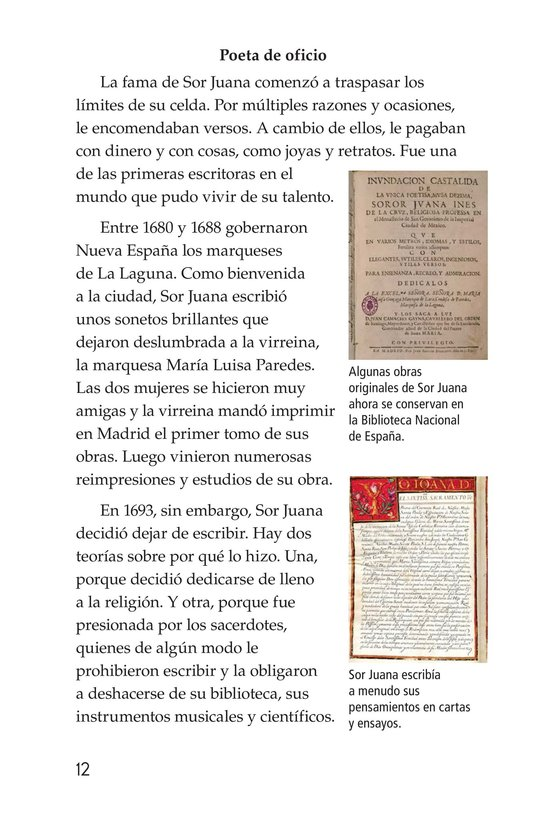 Book Preview For Sor Juana Inés de la Cruz Page 12
