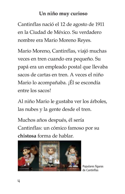 Book Preview For Mario Moreno, Cantinflas Page 4