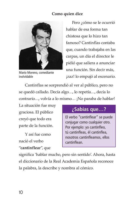 Book Preview For Mario Moreno, Cantinflas Page 10