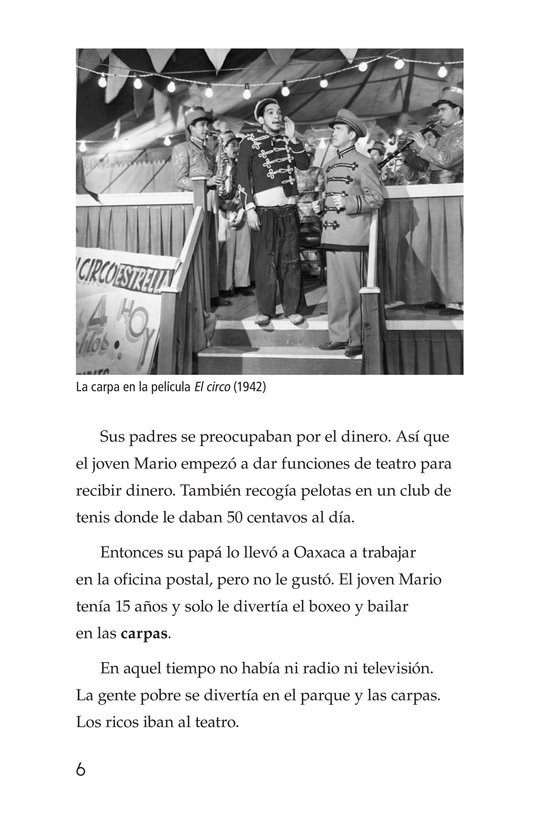Book Preview For Mario Moreno, Cantinflas Page 6