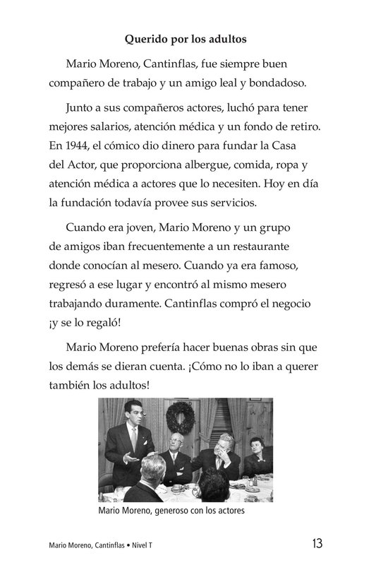 Book Preview For Mario Moreno, Cantinflas Page 13