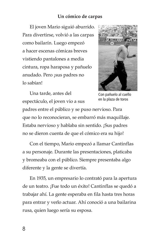 Book Preview For Mario Moreno, Cantinflas Page 8