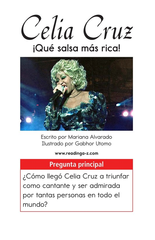 Book Preview For Celia Cruz, ¡Qué salsa más rica! Page 1