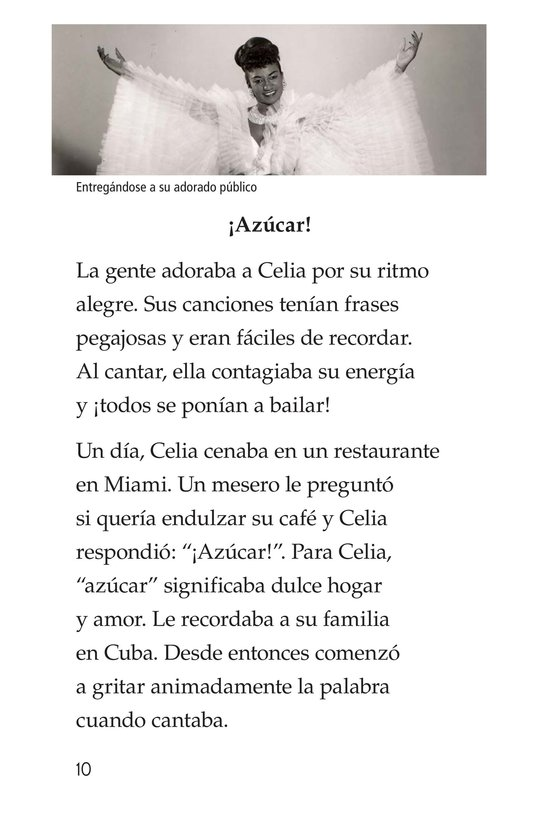 Book Preview For Celia Cruz, ¡Qué salsa más rica! Page 10