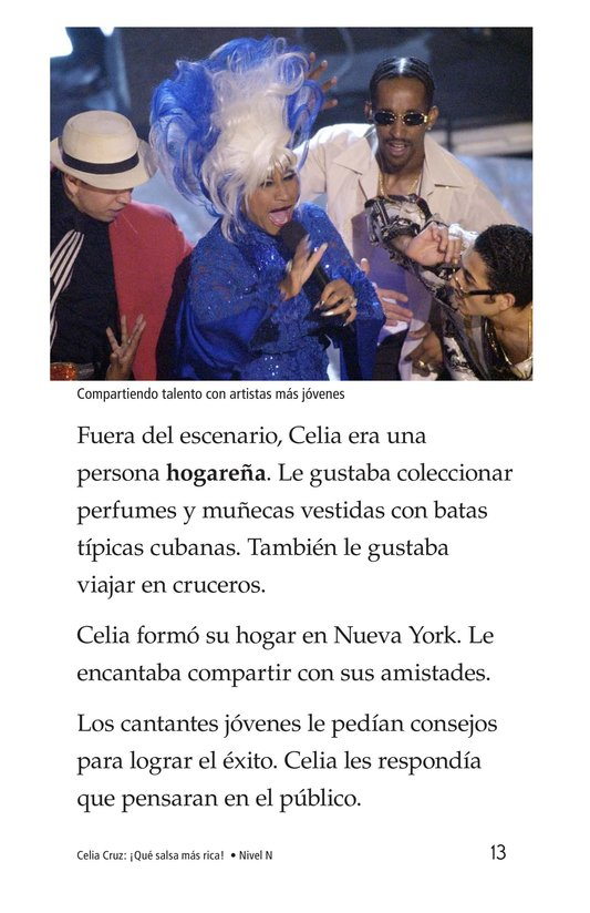 Book Preview For Celia Cruz, ¡Qué salsa más rica! Page 13