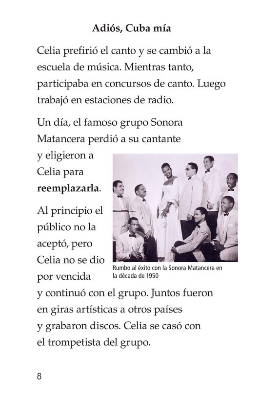 Book Preview For Celia Cruz, ¡Qué salsa más rica! Page 8