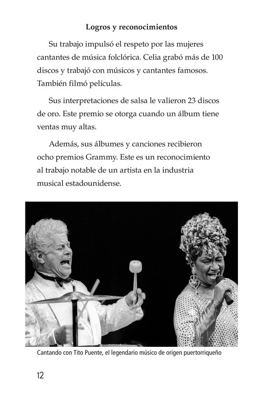 Book Preview For Celia Cruz, ¡Qué salsa más rica! Page 12