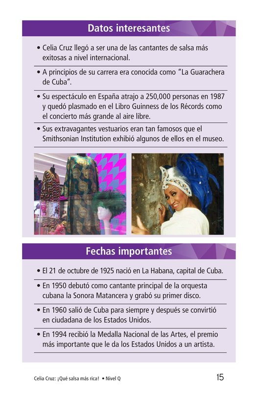 Book Preview For Celia Cruz, ¡Qué salsa más rica! Page 15