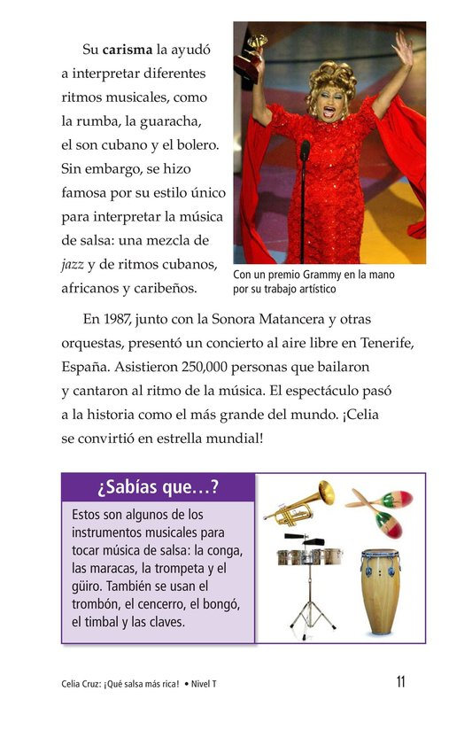 Book Preview For Celia Cruz, ¡Qué salsa más rica! Page 11