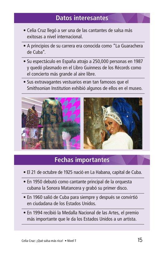 Book Preview For Celia Cruz, ¡Qué salsa más rica! Page 15