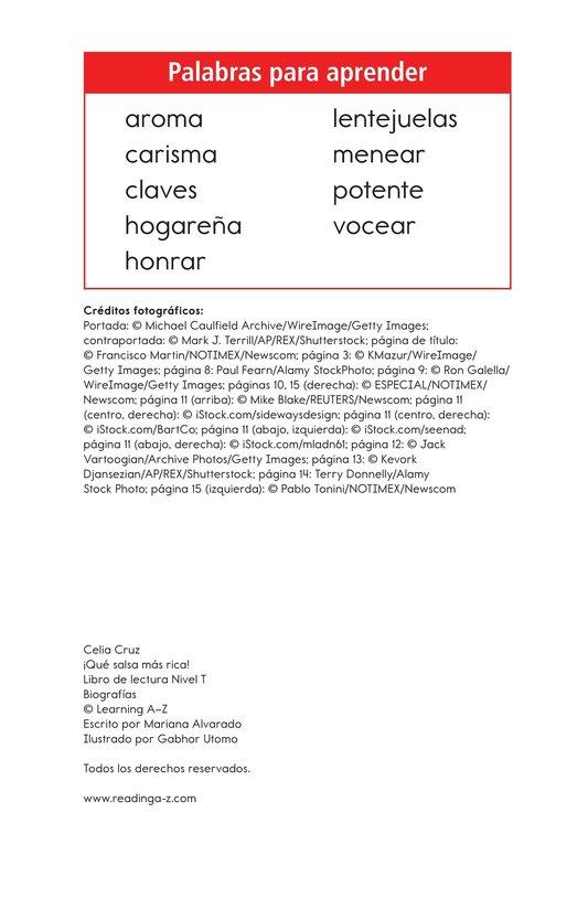 Book Preview For Celia Cruz, ¡Qué salsa más rica! Page 2