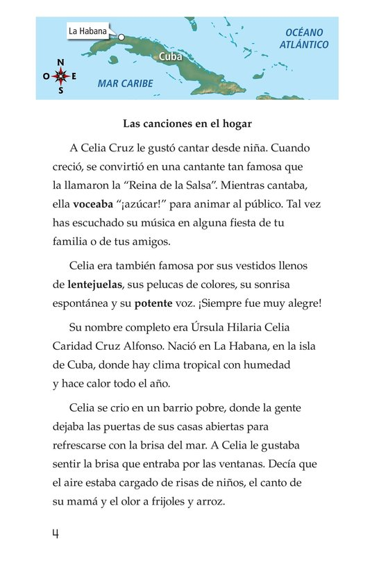 Book Preview For Celia Cruz, ¡Qué salsa más rica! Page 4