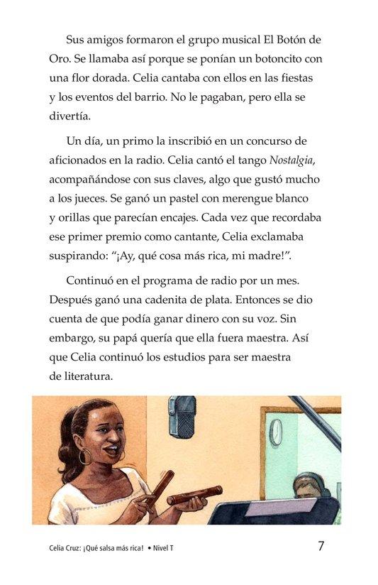 Book Preview For Celia Cruz, ¡Qué salsa más rica! Page 7