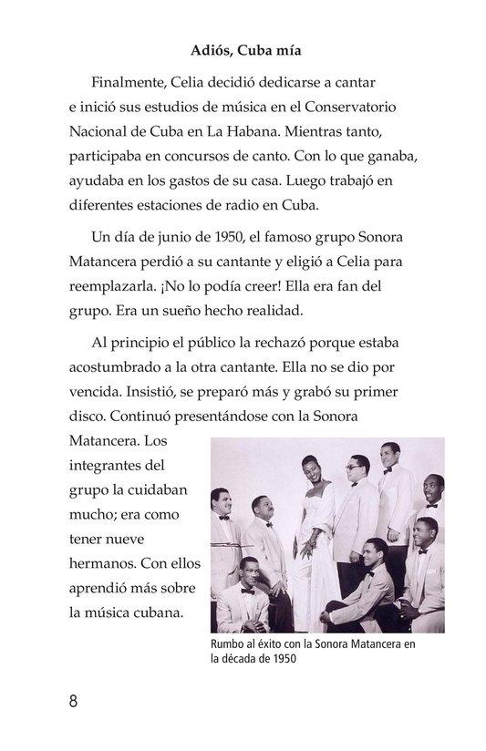 Book Preview For Celia Cruz, ¡Qué salsa más rica! Page 8