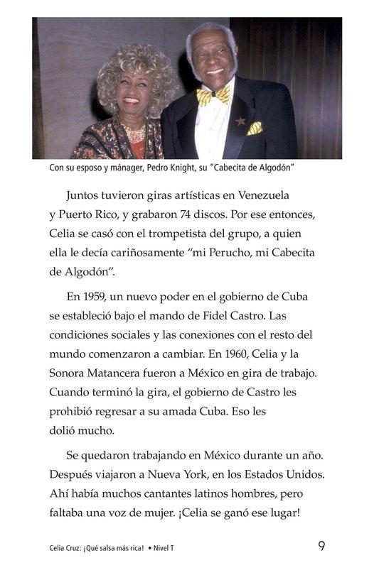 Book Preview For Celia Cruz, ¡Qué salsa más rica! Page 9